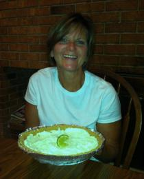 Cooking skipped a generation in our family...Heather is a lover of all things cooking. Here's me with key Line Pie!