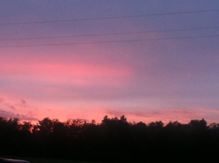 Country church sky