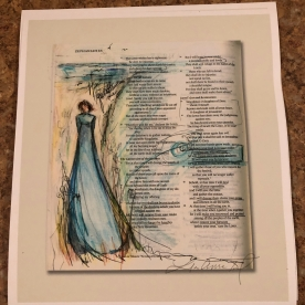 """Margin Girl - Zephaniah 3:17"" an 8X9 print from the pages my Bible."